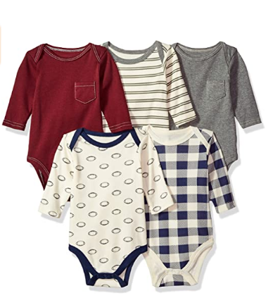 Buy Baby Cotton Long sleeve Bodysuits Online
