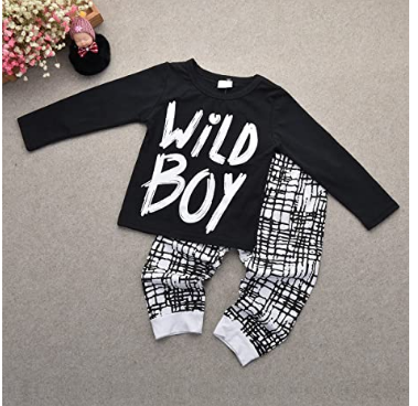 Top Baby Boys Clothes Wild Boy Letter Print T Shirt 2020. 1