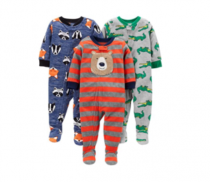 Cheap Carter's Baby 3-Pack Loose Fit Footed Pajamas