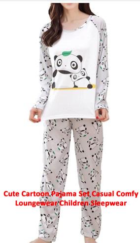 Cute Cartoon Pajama Set Cas