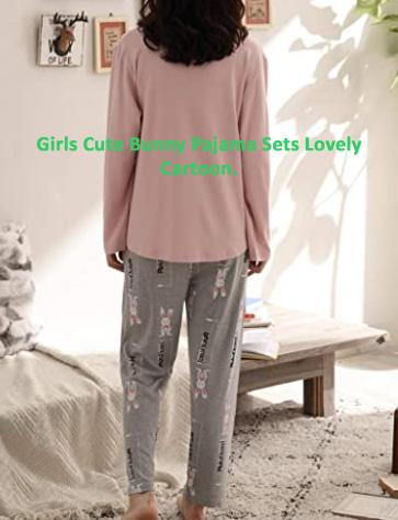 Girls Cute Bunny Pajama Set