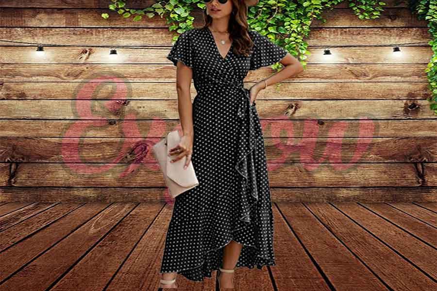 Ethnic Style High Split Beach Maxi Dress