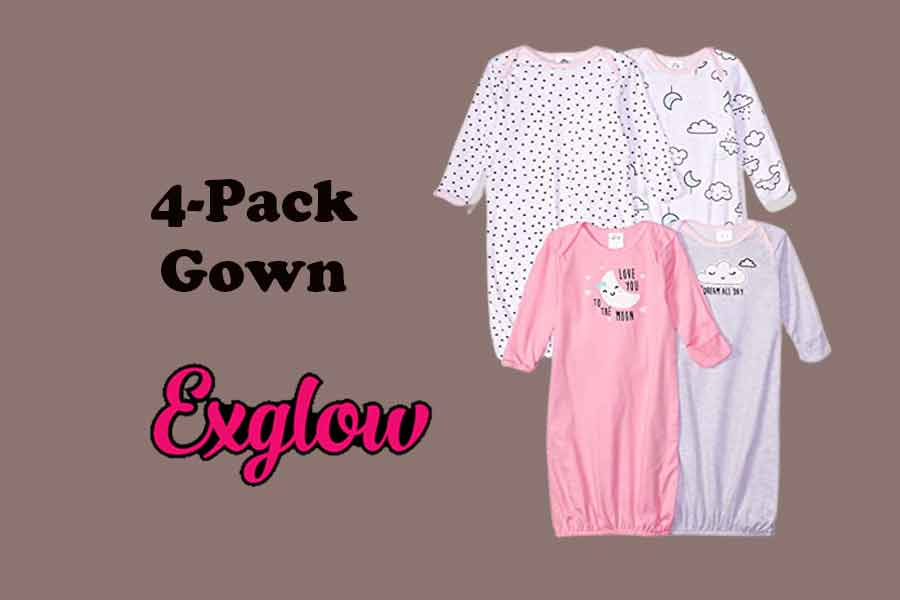 Baby Girls 4-Pack Gown