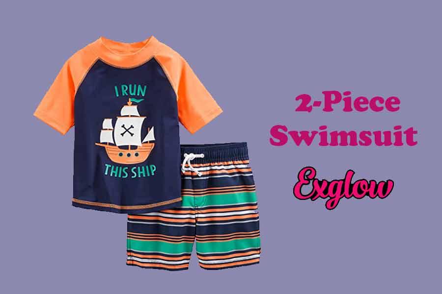 Toddler Boys 2-Piece Swimsuit
