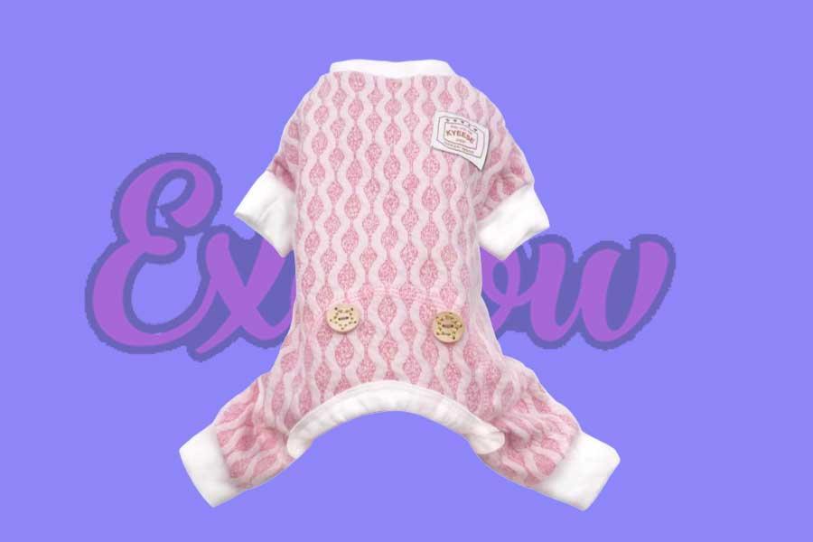 Dog Pajamas Small Cotton Pink