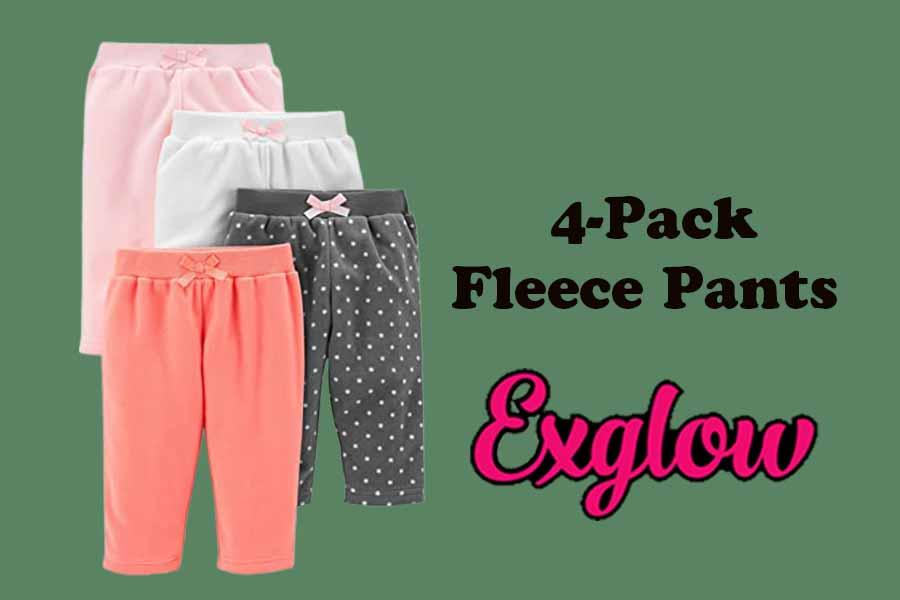 Girls 4-Pack Fleece Pants
