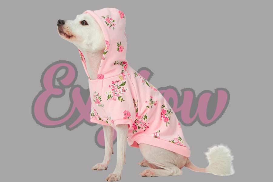 Rose Flower Pullover Dog Sweatshirts