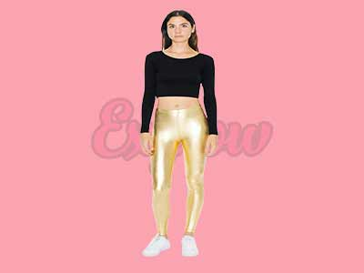 Apparel Women's Metallic Legging
