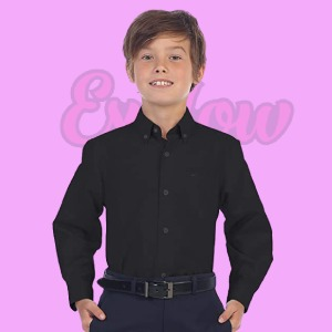 Boys Oxford Long Sleeve Dress Shirt