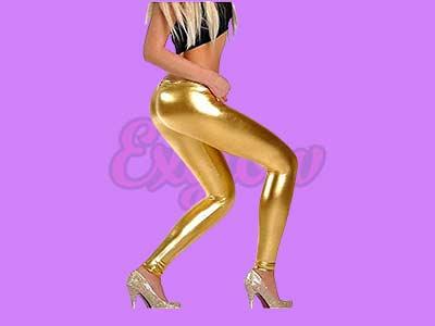 Diamond Shiny Metallic Stretch Leggings