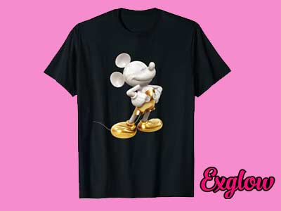Gold Mickey Mouse Pose T-Shirt
