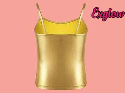 Metallic Sequin Color Camisole Tank Top
