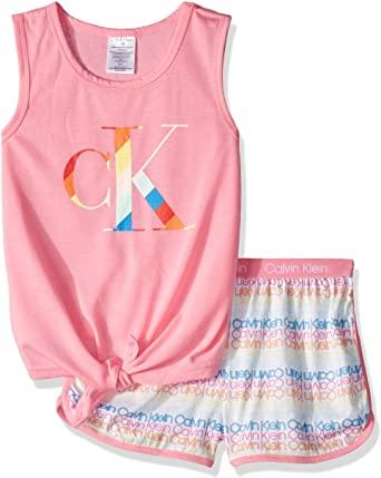 Girls 2 Piece Sleepwear T Shirt and Shorts Pajama Set 1