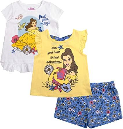 Girls 3 Piece Shirts and Short Set 1