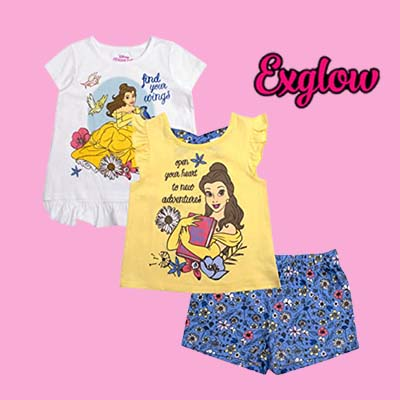 Girls 3 Piece Shirts and Short Set