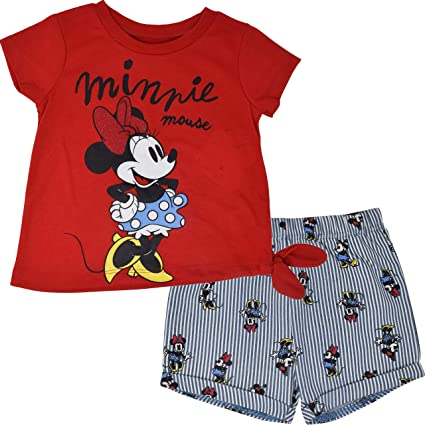 Minnie Mouse Girls T Shirt and Shorts Set 2