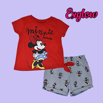 Minnie Mouse Girls T Shirt and Shorts Set