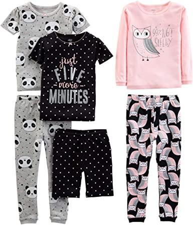 Simple Joys Girls 6 Piece Cotton Pajama Set 1