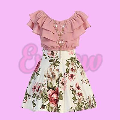 Top Flower Girl Skirt Sets for Girl