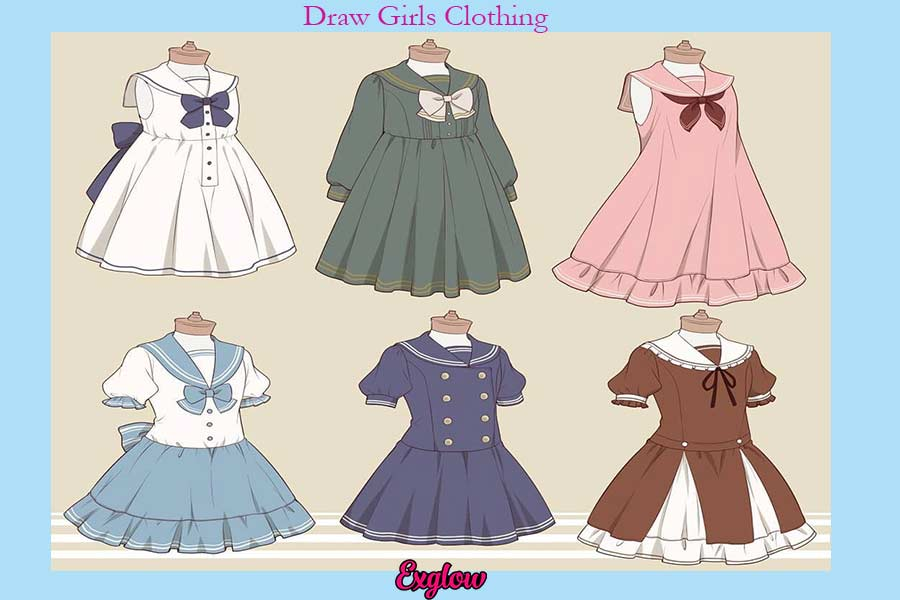 How to Draw Girl Clothes ?